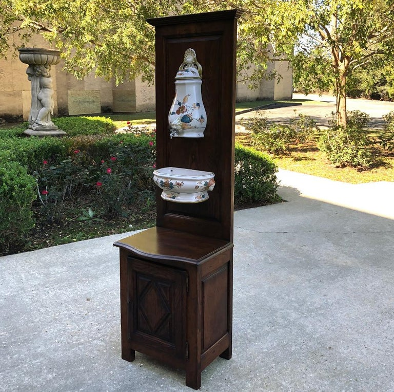 19th Century Country French Fountain with Porcelain Reservoir and Basin In Good Condition For Sale In Dallas, TX