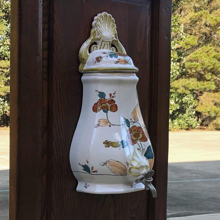 19th Century Country French Fountain with Porcelain Reservoir and Basin For Sale 4