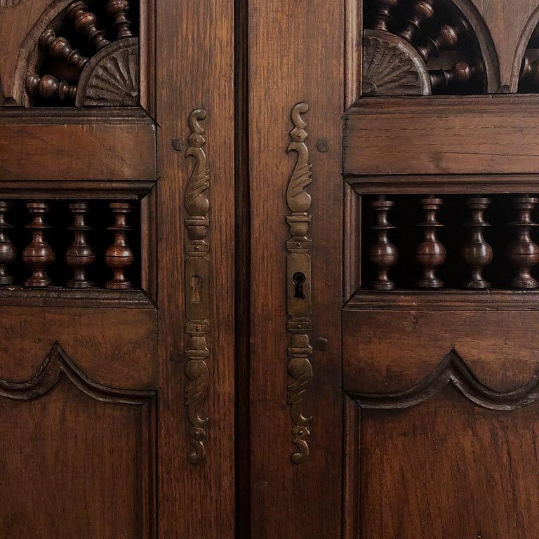 19th Century Country French Garde Manger, Cabinet from Brittany For Sale 5