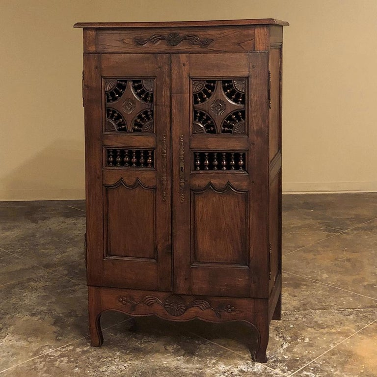 19th Century Country French Garde Manger, Cabinet from Brittany In Good Condition For Sale In Dallas, TX