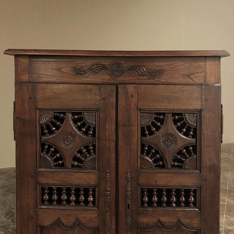 Fruitwood 19th Century Country French Garde Manger, Cabinet from Brittany For Sale