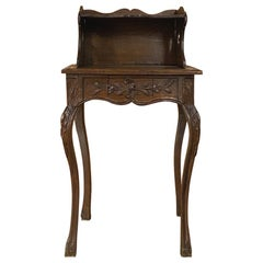 19th Century Country French Nightstand or End Table