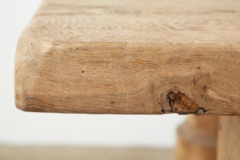 19th Century Country French Oak Farmhouse Trestle Dining Table For Sale 12