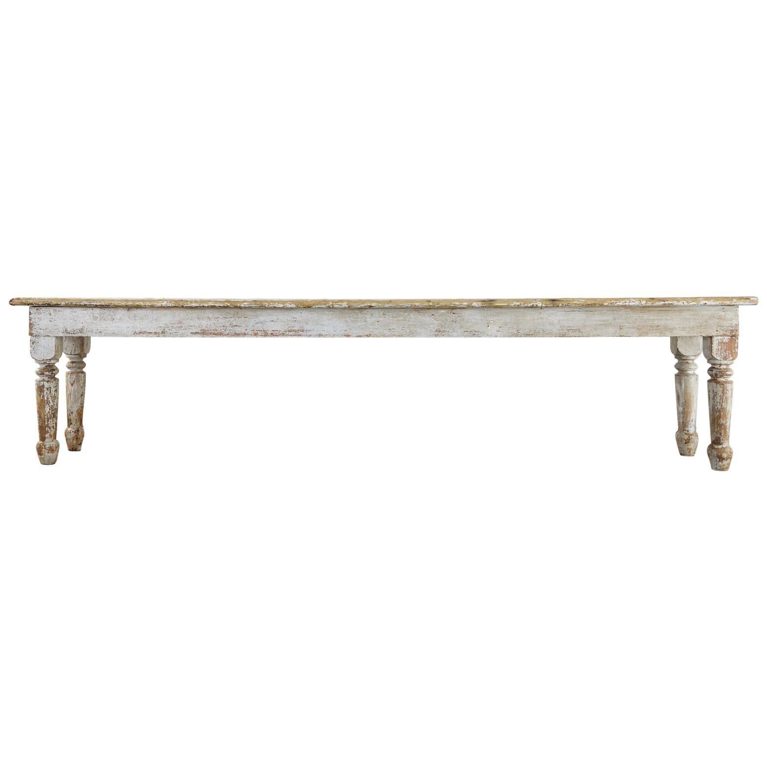 19th Century Country French Provincial Farmhouse Table
