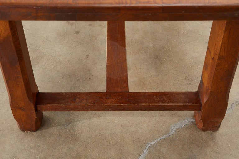 19th Century Country French Provincial Farmhouse Trestle Table For Sale 14