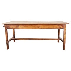 19th Century Country French Provincial Fruitwood Farmhouse Dining Table