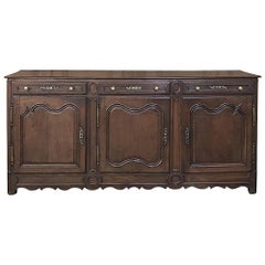 19th Century Country French Provincial Oak Low Buffet