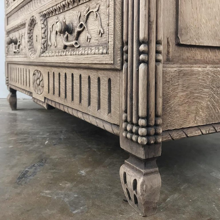 19th Century Country French Provincial Stripped Oak Secretary For Sale 6