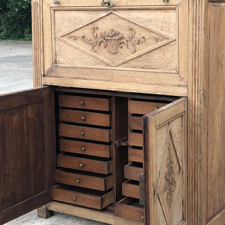 19th Century Country French Rustic Stripped Secretary 2
