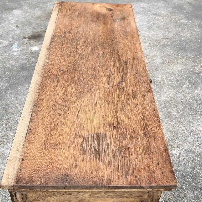 19th Century Country French Rustic Stripped Secretary 3