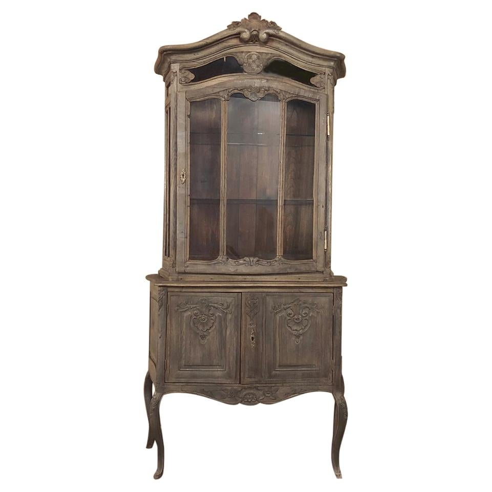 19th Century Country French Vitrine or Bookcase