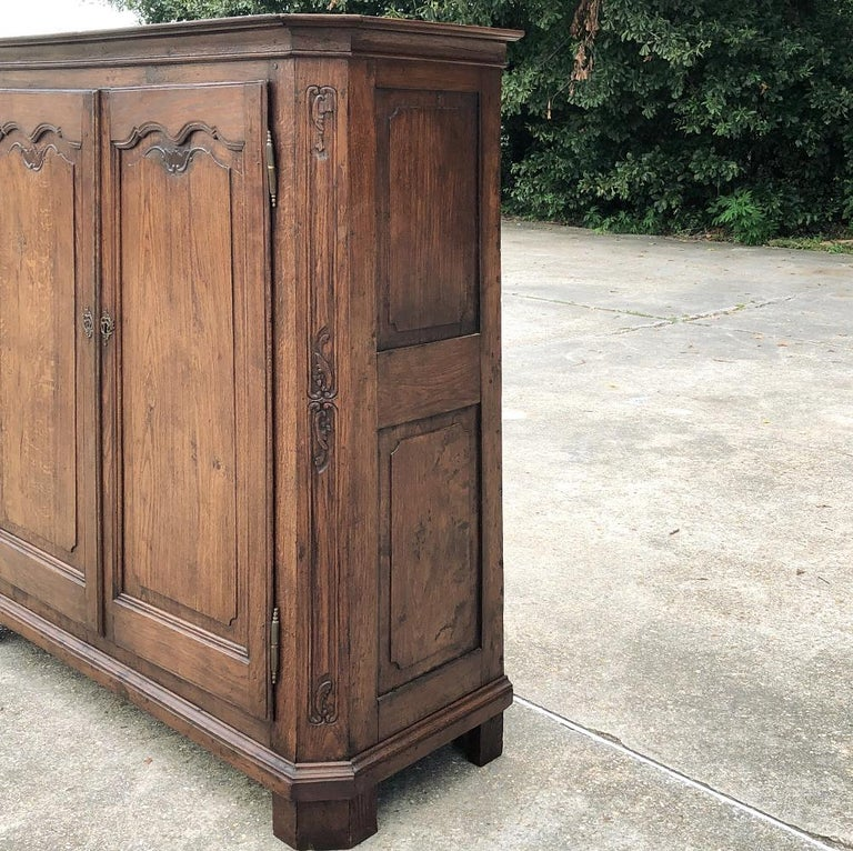 Rustic 19th Century Country French Wardrobe, Cabinet For Sale