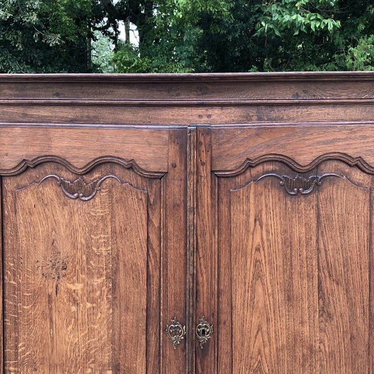 19th Century Country French Wardrobe, Cabinet In Good Condition For Sale In Dallas, TX