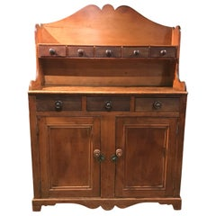19th Century Country Step Back Server / Hutch or Cupboard, Possibly Canadian