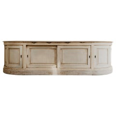 19th Century Creamcolored Pinewood Bakeryshop Counter/Enfilade/Dresser