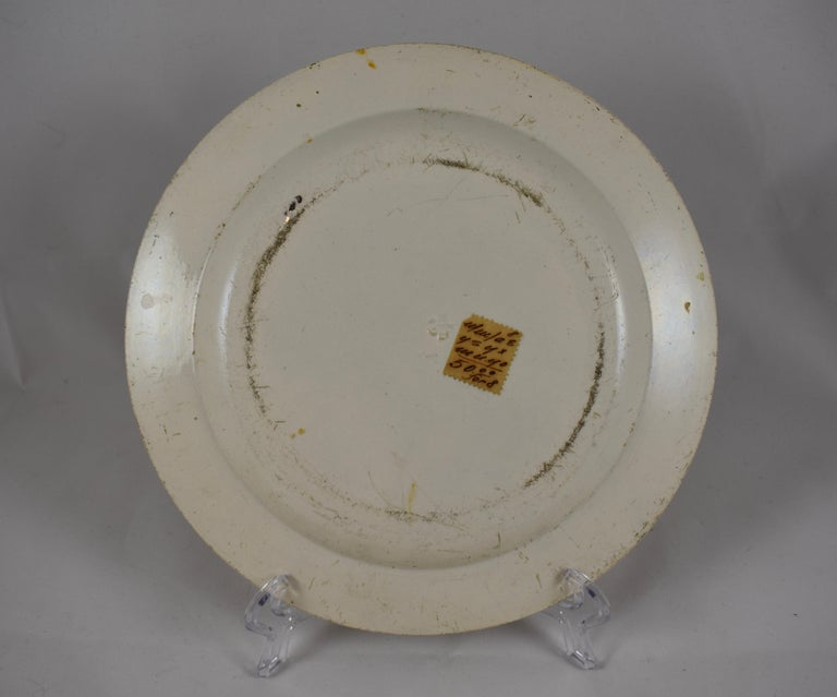 19th Century Creil Polychrome French Revolution Gallic Marins Sailor Plate For Sale 2