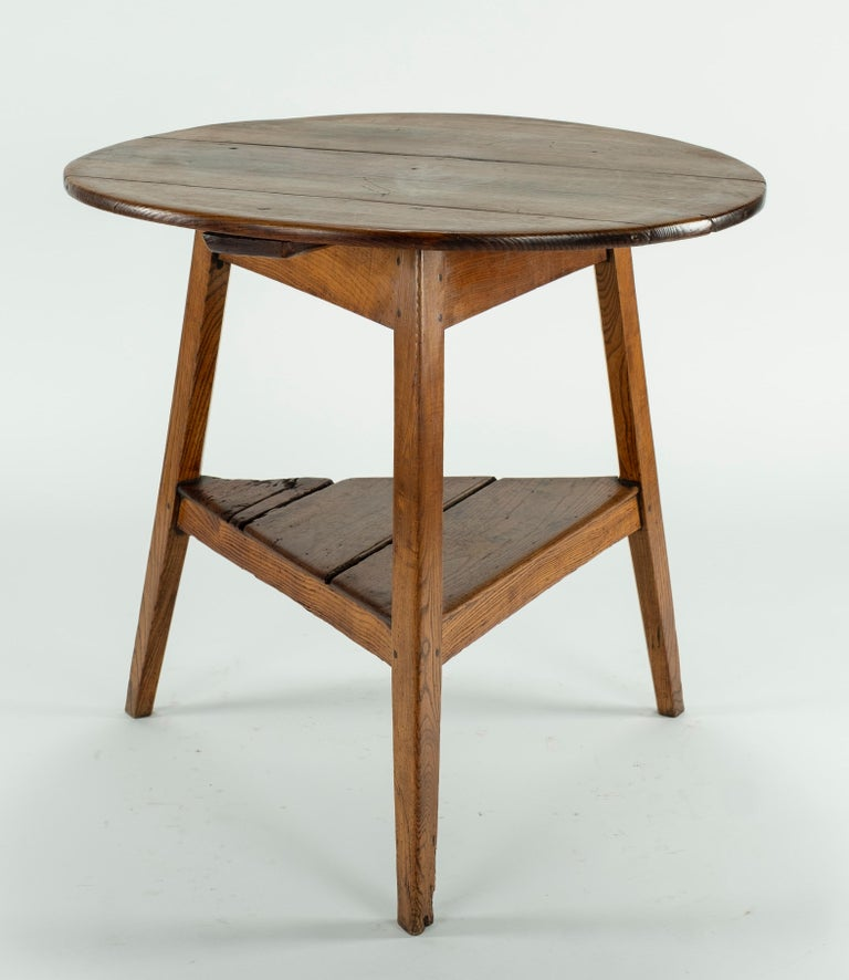 Elm 19th Century Cricket Table For Sale