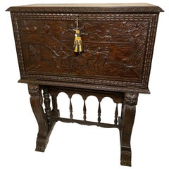19th Century Cuban Mahogany Wood Bargueno Desk