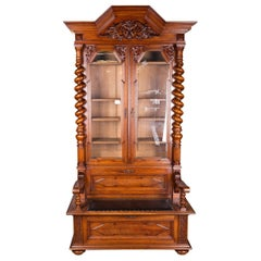 19th Century, Cupboard with Chest Groschkus Gründerzeit, Solid Oak