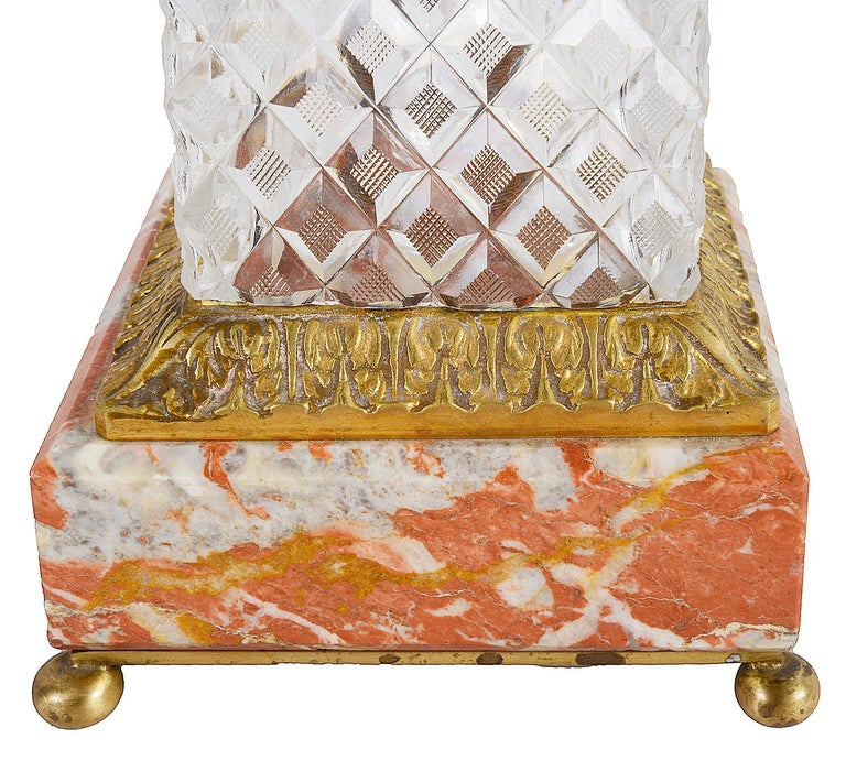 19th Century Cut Glass, Ormolu Mounted Urn In Good Condition For Sale In Brighton, Sussex