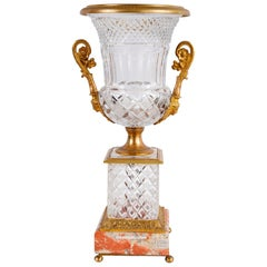 19th Century Cut Glass, Ormolu Mounted Urn
