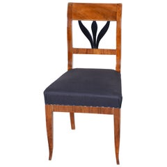 19th Century Czech Walnut Biedermeier Chair, Period 1830-1839, Restored