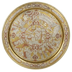 19th Century Syrian Damascened Passover Tray