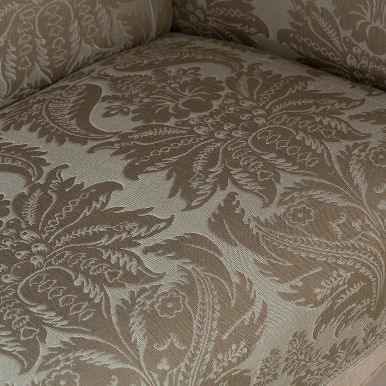 19th Century Damask Upholstered Swedish Sofa, circa 1880 In Good Condition For Sale In , Wiltshire