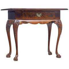 19th Century Danish Carved Walnut Side Table