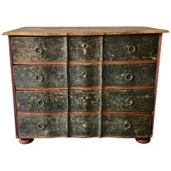 19th Century Danish Serpentine Front Chest