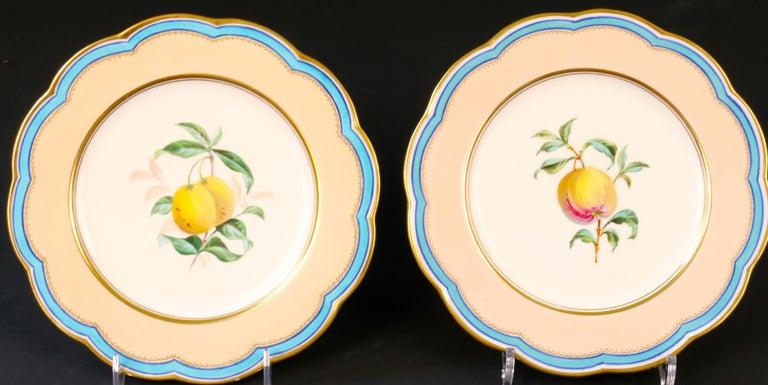 19th Century Davenport, England Hand-Painted Dessert Service For Sale 3