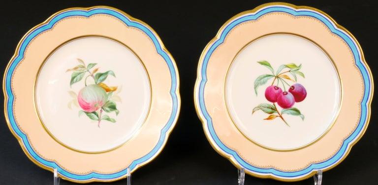 19th Century Davenport, England Hand-Painted Dessert Service For Sale 4