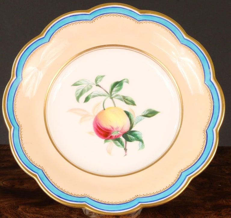 Victorian 19th Century Davenport, England Hand-Painted Dessert Service For Sale