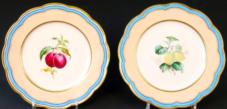 Porcelain 19th Century Davenport, England Hand-Painted Dessert Service For Sale