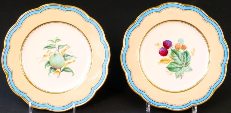 19th Century Davenport, England Hand-Painted Dessert Service For Sale 1
