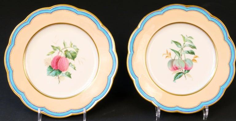 19th Century Davenport, England Hand-Painted Dessert Service For Sale 2