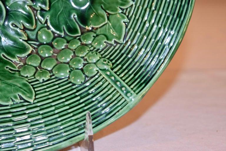 Glazed 19th Century Davenport Majolica Dish For Sale