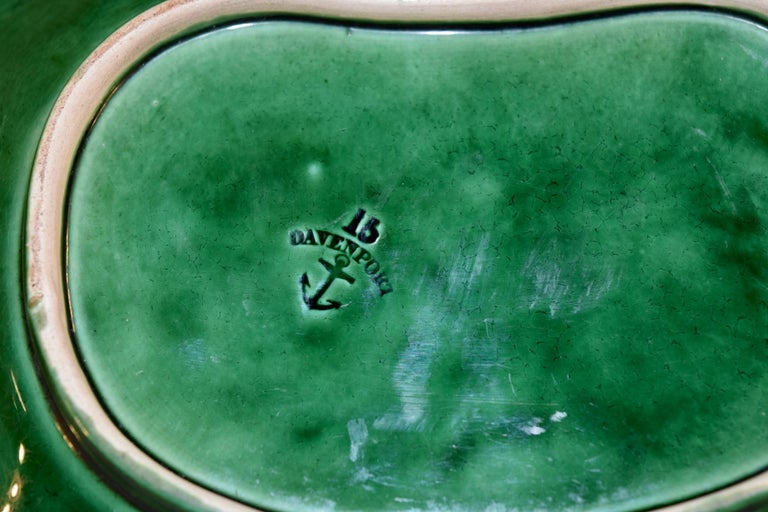 19th Century Davenport Majolica Dish In Good Condition For Sale In High Point, NC