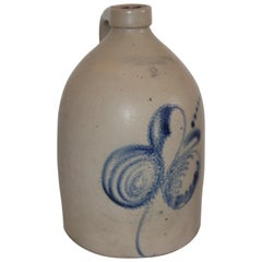 19th Century Decorated Stoneware Jug from Keene, New Hampshire