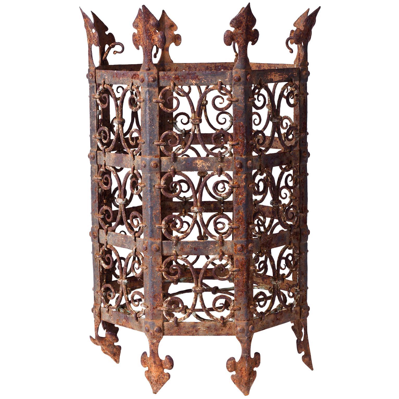 19th Century Decorative Iron Jardinière from France