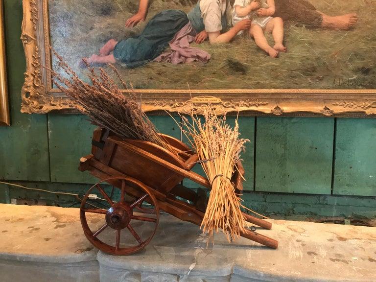 19th Century Decorative Object Wood Toy Wagon