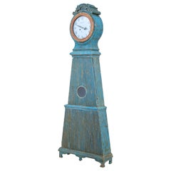 19th Century Decorative Swedish Mora Long Case Clock