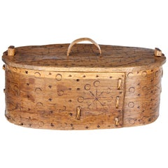 19th Century Decorative Swedish Tine Box