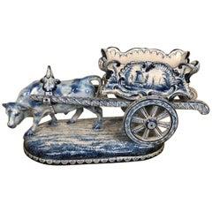 19th Century Delft Ceramic Centerpiece