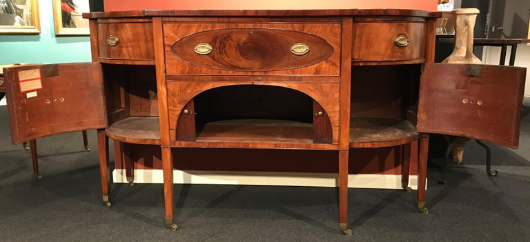 19th Century Demilune Mahogany Sideboard /Desk owned by Nathaniel Silsbee  4