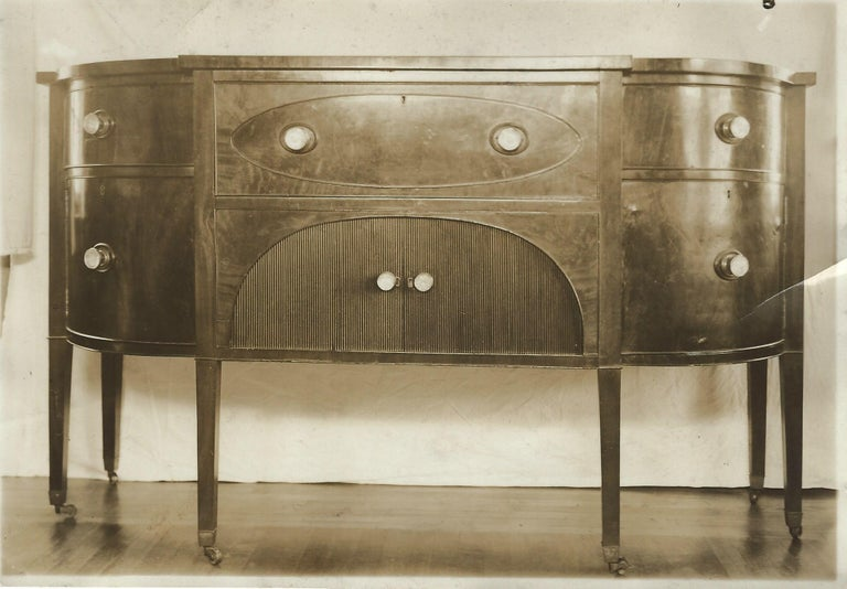 19th Century Demilune Mahogany Sideboard /Desk owned by Nathaniel Silsbee  11