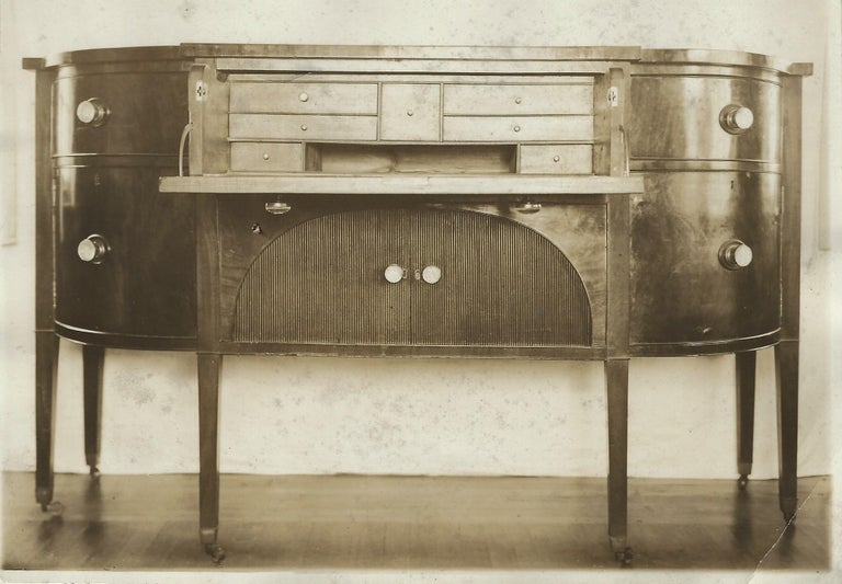 19th Century Demilune Mahogany Sideboard /Desk owned by Nathaniel Silsbee  12