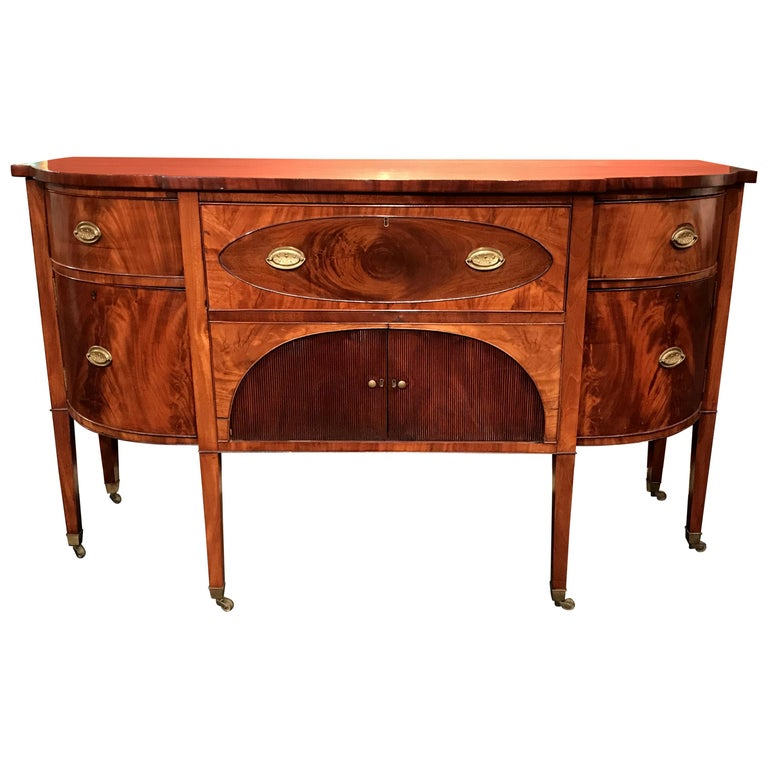 19th Century Demilune Mahogany Sideboard /Desk owned by Nathaniel Silsbee
