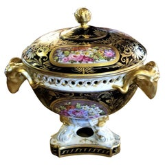 19th Century Derby Porcelain Lidded Centerpiece