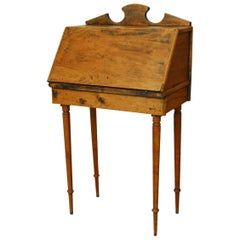 19th Century Diminutive Pine Slant Front Desk